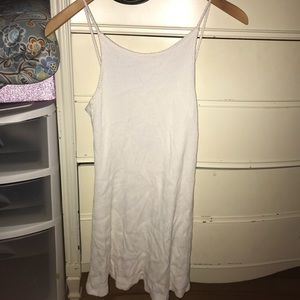 White topshop scoop back dress